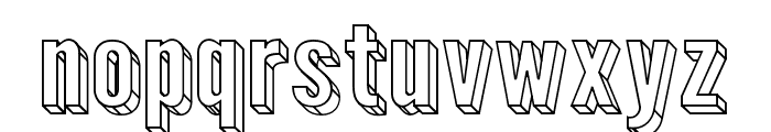 Warsaw Gothic Extended 3D Font LOWERCASE