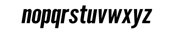 Warsaw Gothic Extended Oblique Font LOWERCASE