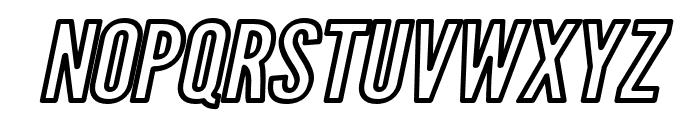 Warsaw Gothic Extended Outline Oblique Font UPPERCASE