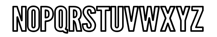 Warsaw Gothic Extended Outline Font UPPERCASE