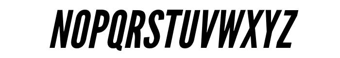 Warsaw Gothic Oblique Font UPPERCASE