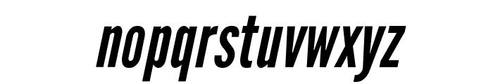 Warsaw Gothic Oblique Font LOWERCASE