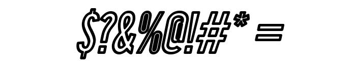 Warsaw Gothic Outline Oblique Font OTHER CHARS