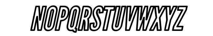 Warsaw Gothic Outline Oblique Font UPPERCASE