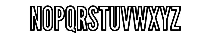 Warsaw Gothic Outline Font UPPERCASE