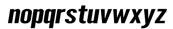Warsaw Gothic SuperExtended Oblique Font LOWERCASE