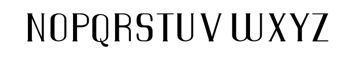 WarsawCourier Font LOWERCASE