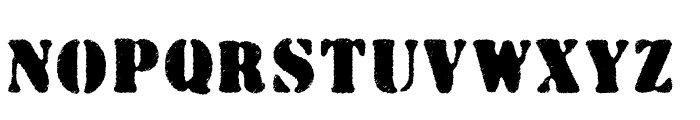 Wartorn Font UPPERCASE