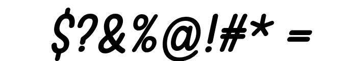 Warung Kopi Italic Font OTHER CHARS