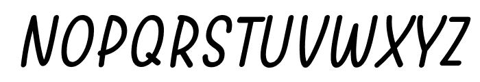 Warung Kopi Light Italic Font UPPERCASE