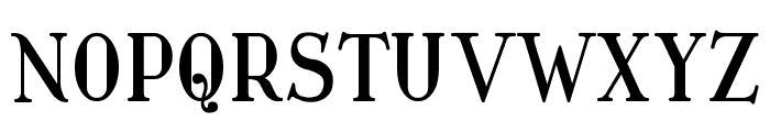 Waschkueche Font UPPERCASE