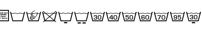 Wash Care Symbols Classic M54 Font LOWERCASE