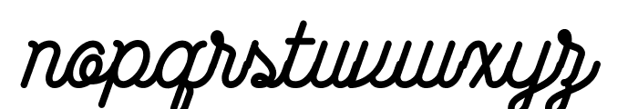 Wasted-Regular Font LOWERCASE