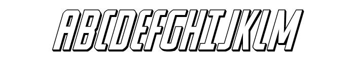 Watchtower 3D Italic Font UPPERCASE