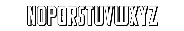 Watchtower 3D Regular Font LOWERCASE