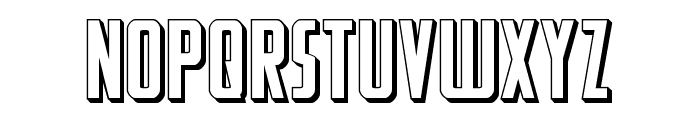 Watchtower 3D Font UPPERCASE