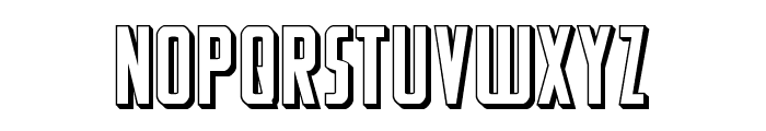 Watchtower 3D Font LOWERCASE