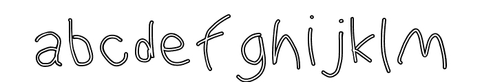 WaterFire Outline Font LOWERCASE