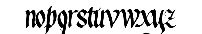 Waters Gothic Deux Font LOWERCASE