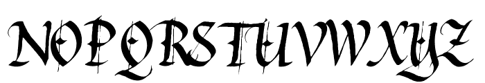 Waters Gothic Font UPPERCASE