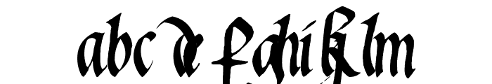 Waters Gothic Font LOWERCASE