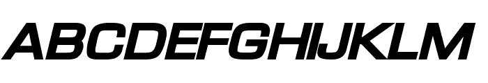 Waukegan LDO Extended Black Oblique Font UPPERCASE