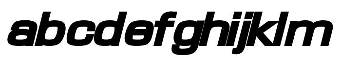 Waukegan LDO Extended Black Oblique Font LOWERCASE