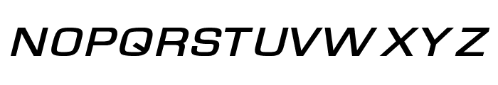 Waukegan LDO Extended Bold Oblique Font UPPERCASE