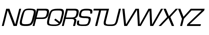 Waukegan LDO Oblique Font UPPERCASE