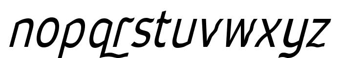 Waverley-Italic Font LOWERCASE