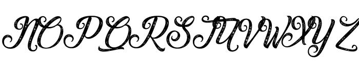 Waving at Christmas Font UPPERCASE