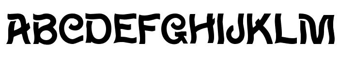 Wavy Font UPPERCASE