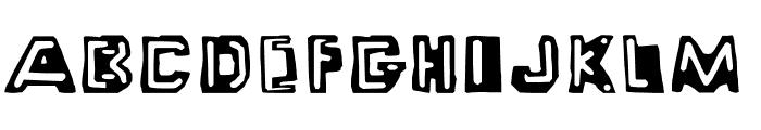 Wayzgoose Punch & Strut Font UPPERCASE