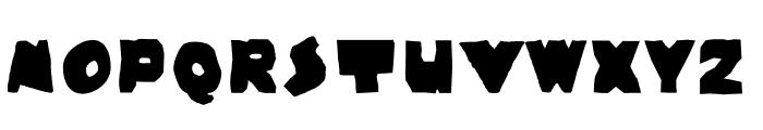Wayzgoose Punch & Strut Font LOWERCASE