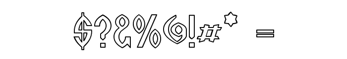 Wazoo Outline Font OTHER CHARS
