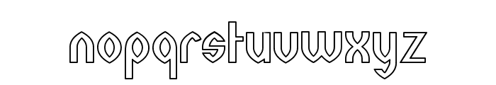 Wazoo Outline Font LOWERCASE