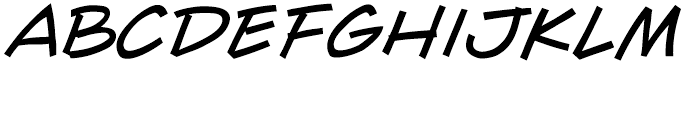 Wall Scrawler Intl Italic Font LOWERCASE