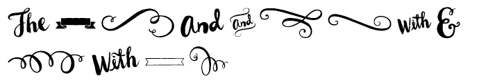 Wanderlust Letters Extras Font UPPERCASE