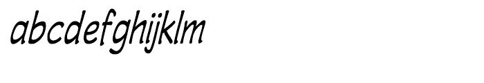 Wastrel Condensed Oblique Font LOWERCASE