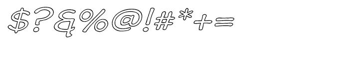 Wastrel Expanded Outline Oblique Font OTHER CHARS