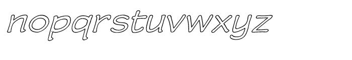 Wastrel Expanded Outline Oblique Font LOWERCASE