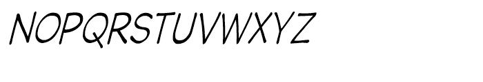 Wastrel Light Condensed Oblique Font UPPERCASE