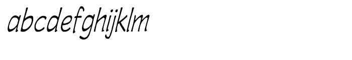 Wastrel Light Condensed Oblique Font LOWERCASE