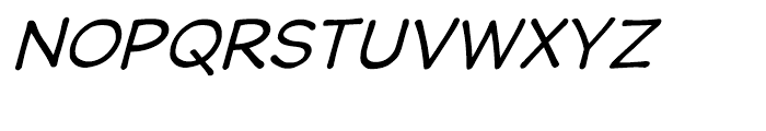 Wastrel Oblique Font UPPERCASE
