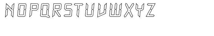 Watch Outline Regular Font UPPERCASE
