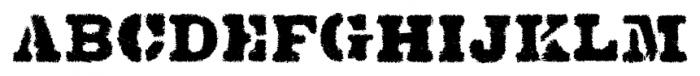 Walken Crisp Font UPPERCASE