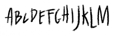 Wallet Chalk Font UPPERCASE