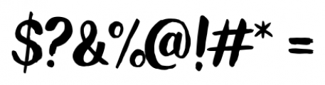 Wanderlust Letters Pro Font OTHER CHARS