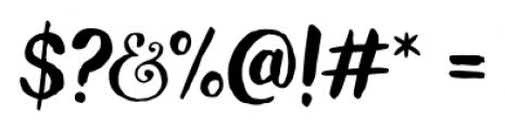 Wanderlust Letters Regular Font OTHER CHARS
