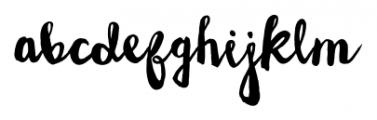 Wanderlust Letters Regular Font LOWERCASE